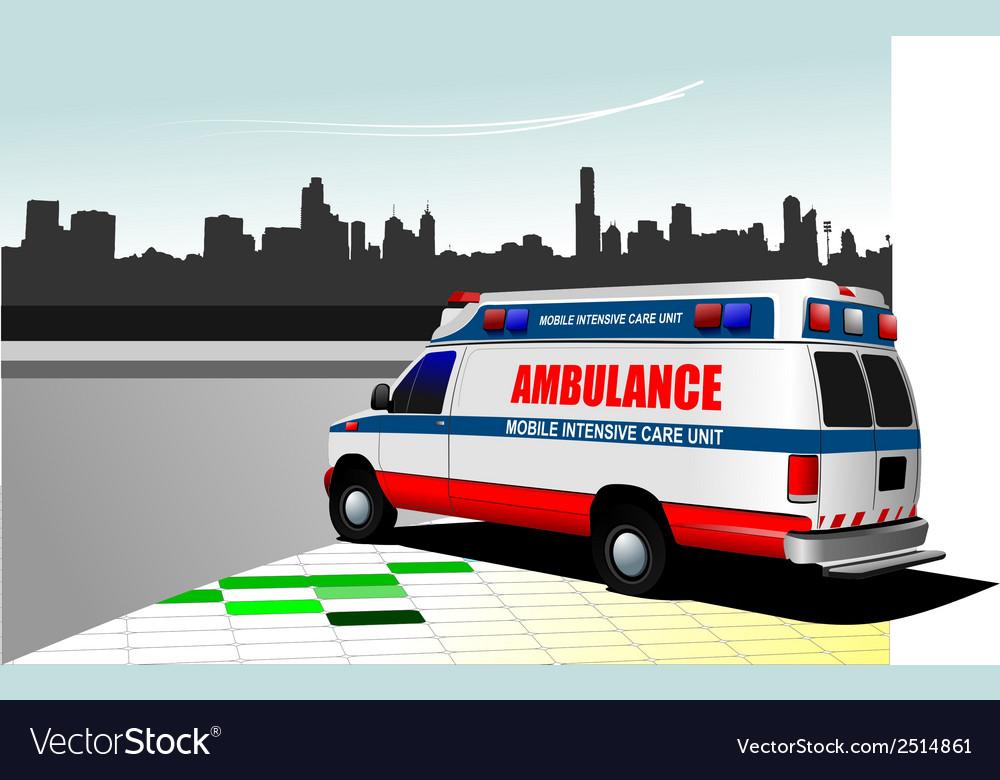 Al 0219 ambulance vector image