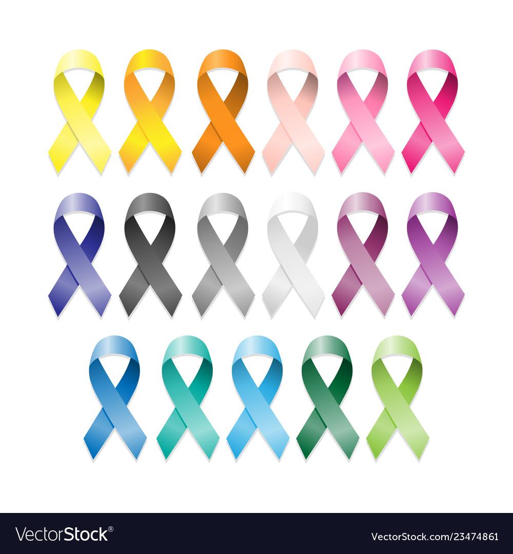 Cancer ribbons set international cancer awareness