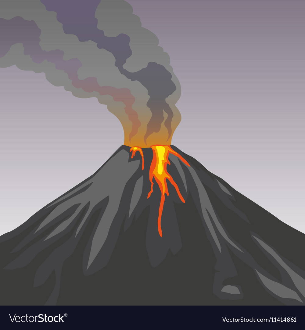 Crater mountain volcano hot natural eruption Smoke