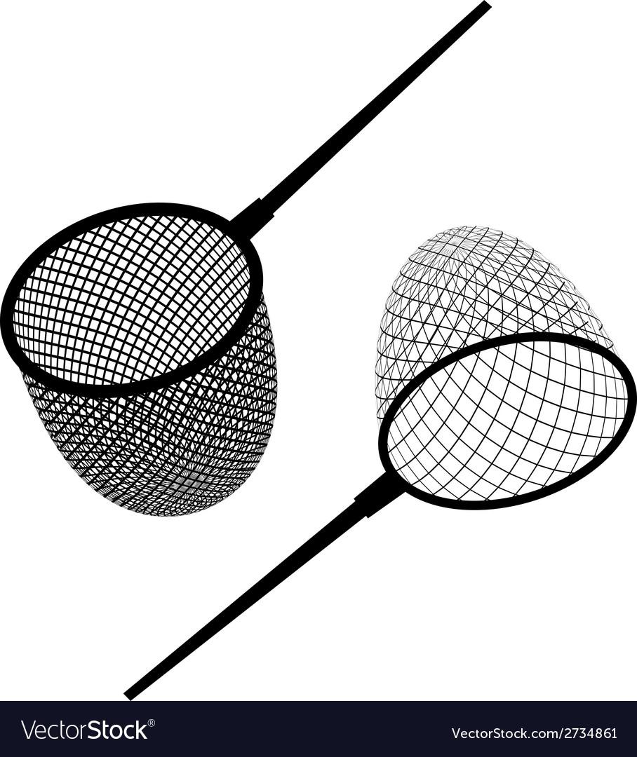 Fishing net black icon