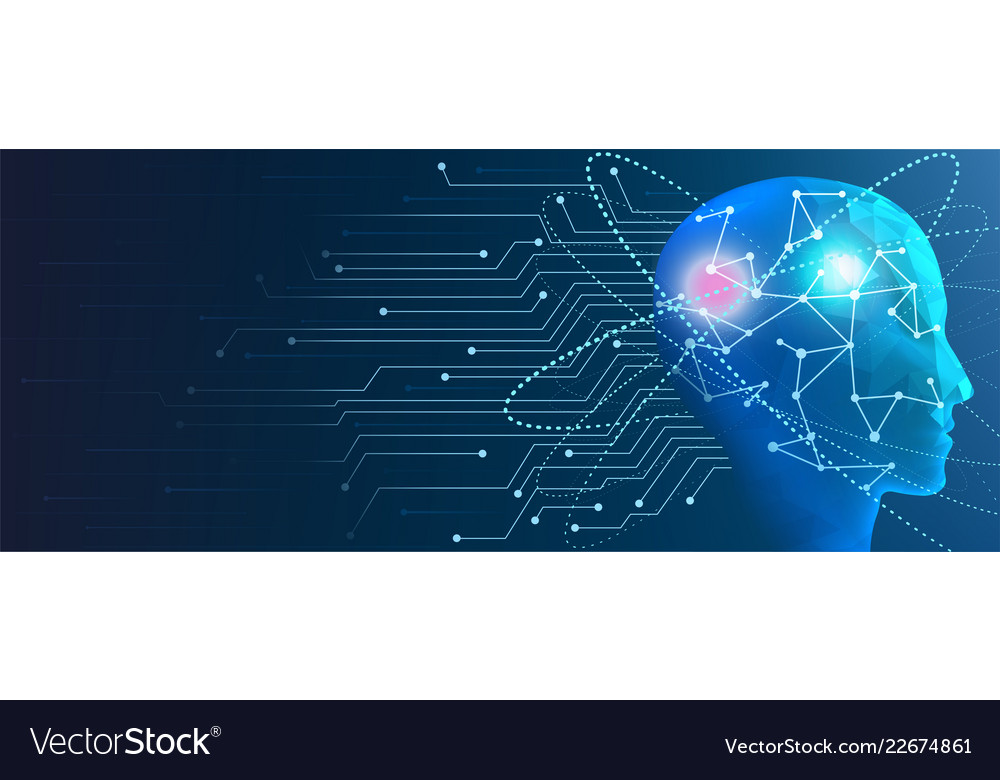 Human artificial intelligence concept of machine