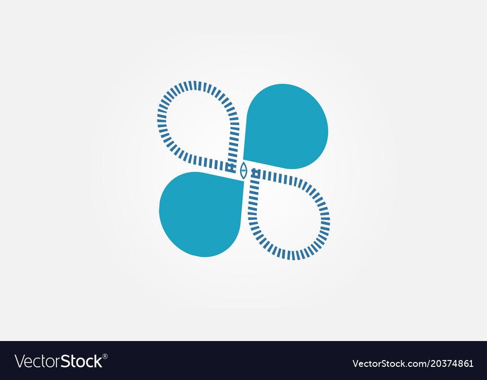 Iconic logo design vector image