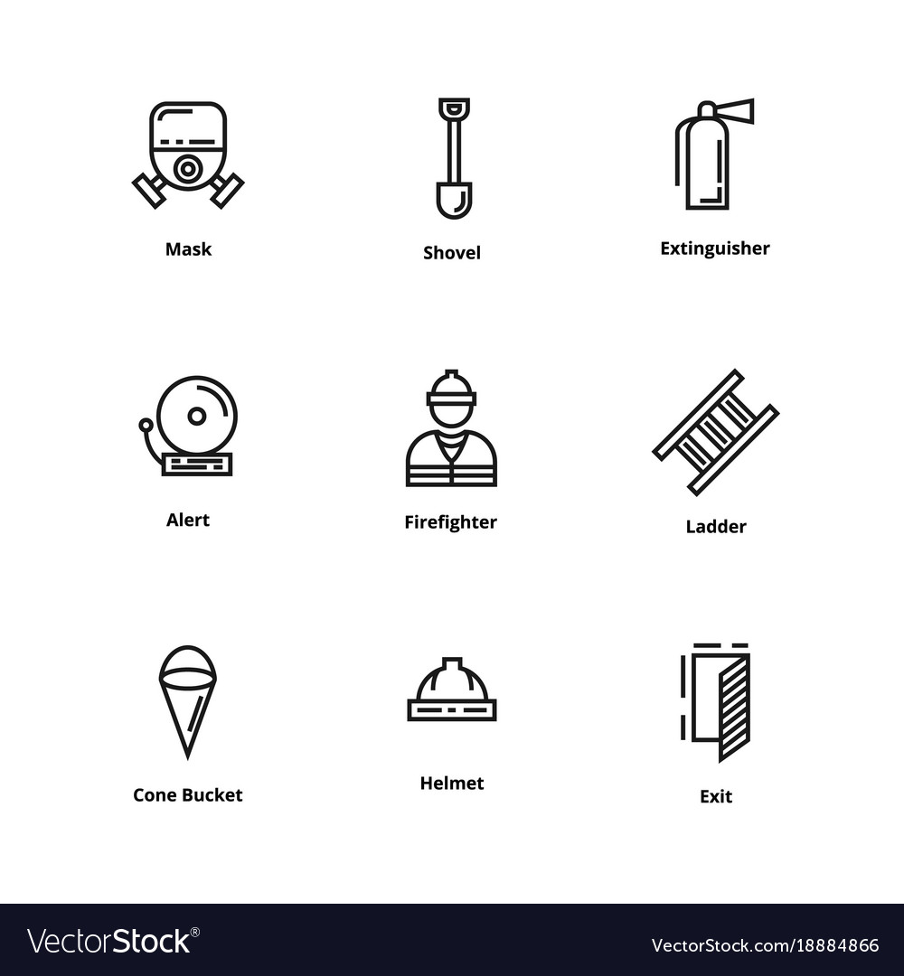 9 firefighter icons