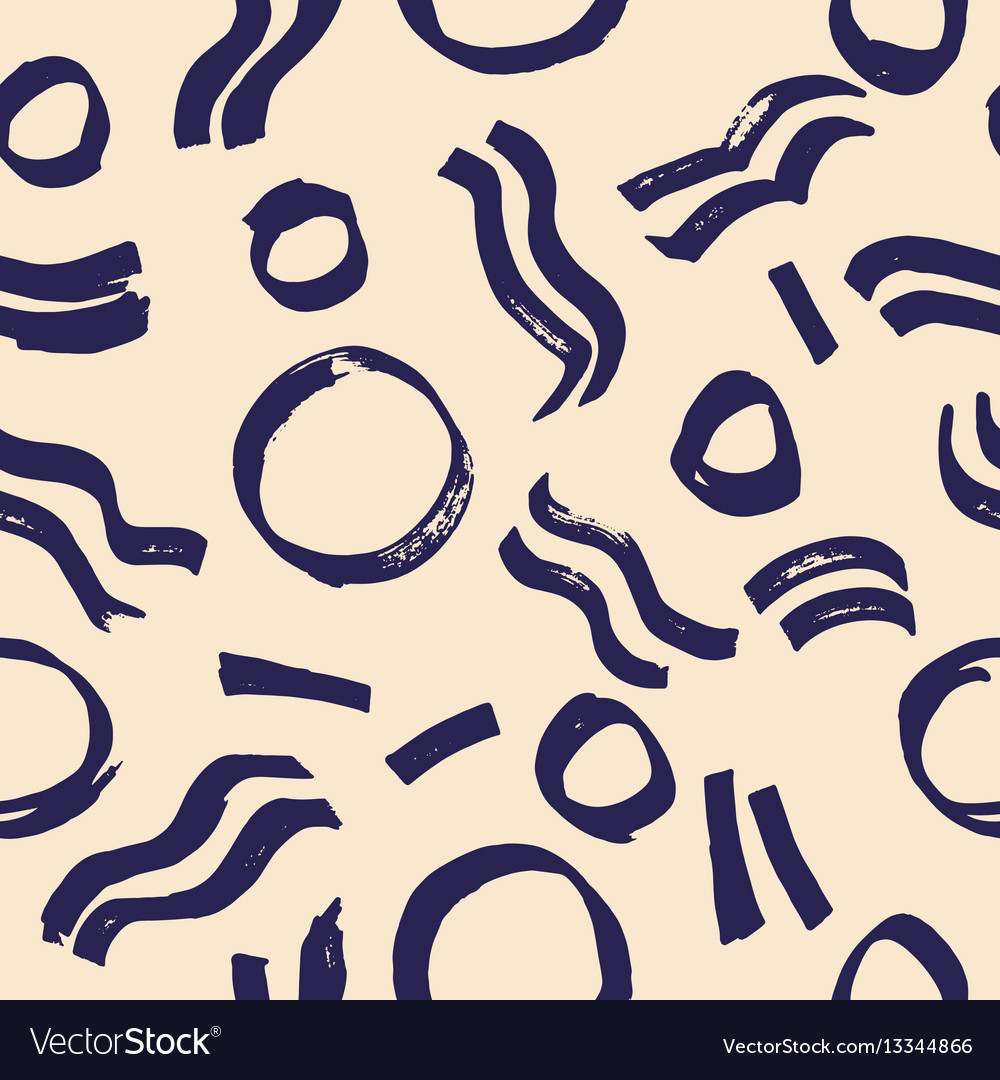 Creative seamless pattern with circular and