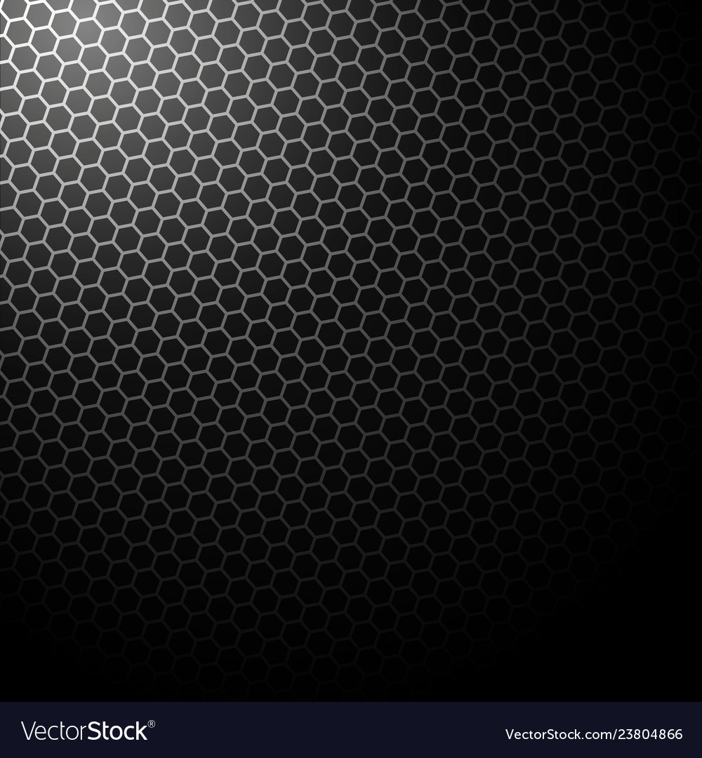 Dark background with hexagons background