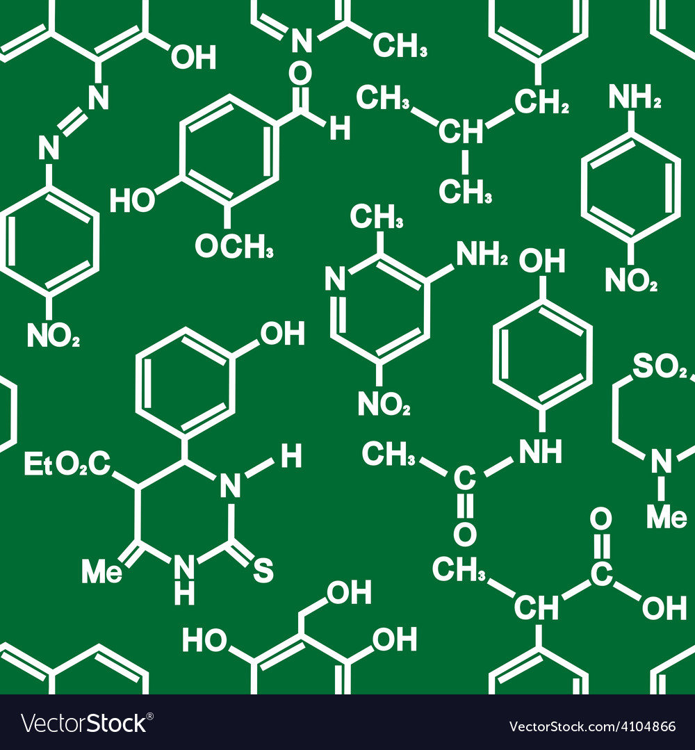 Organic chemistry structural formula pattern vector image thecheapjerseys Image collections