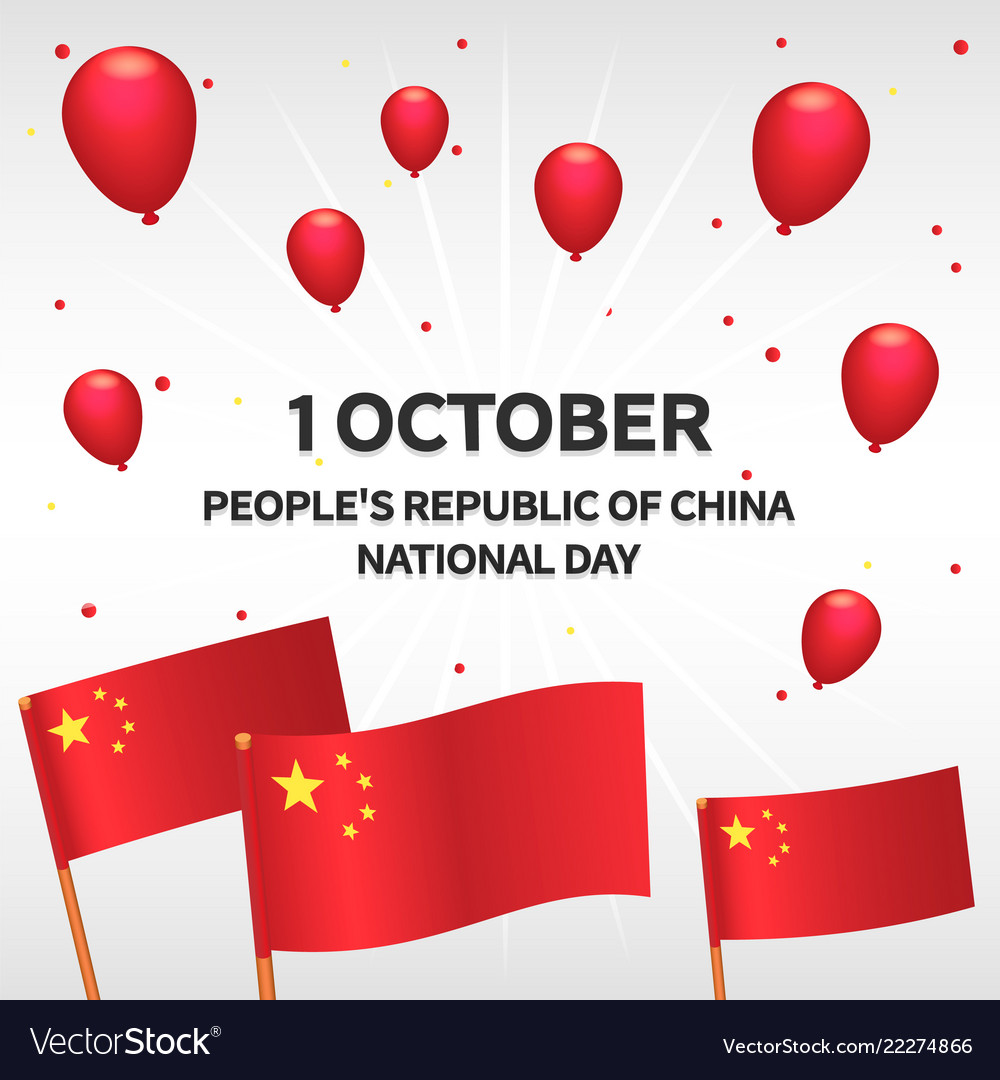 Peoples republic china day concept background