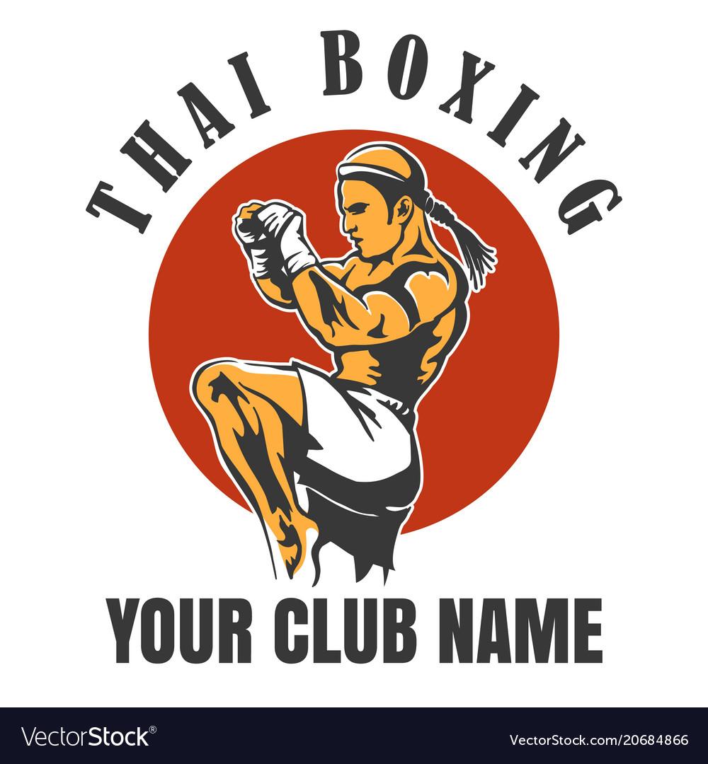 Thai boxing club emblem