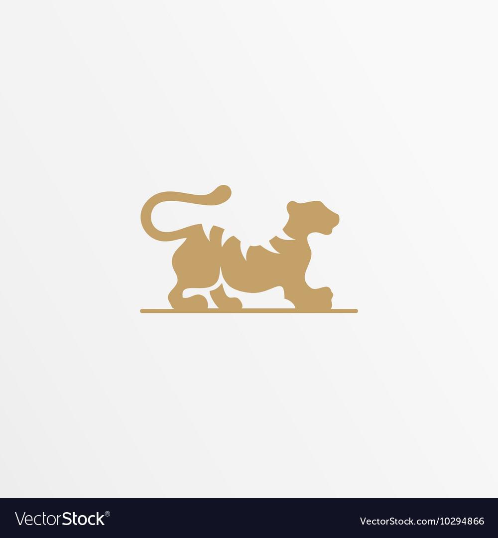 Tiger logo design template Cat