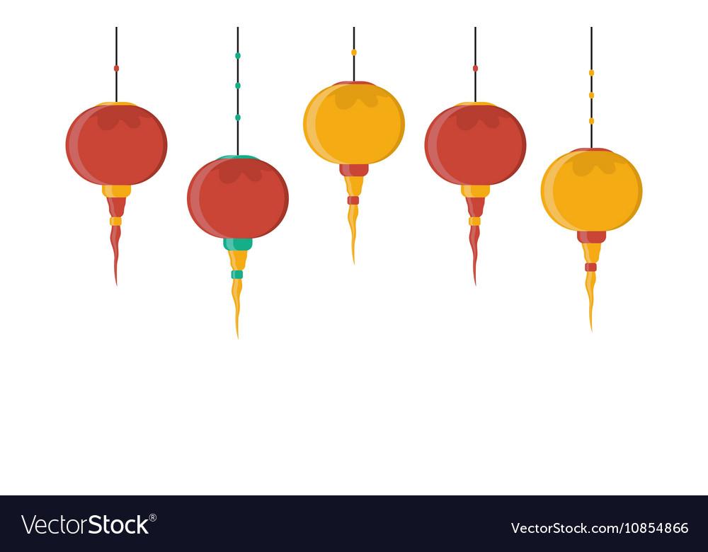 With chinese lantern