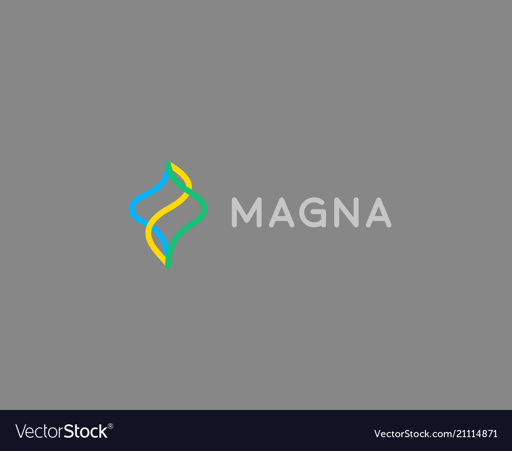 Abstract color line logotype motion wave