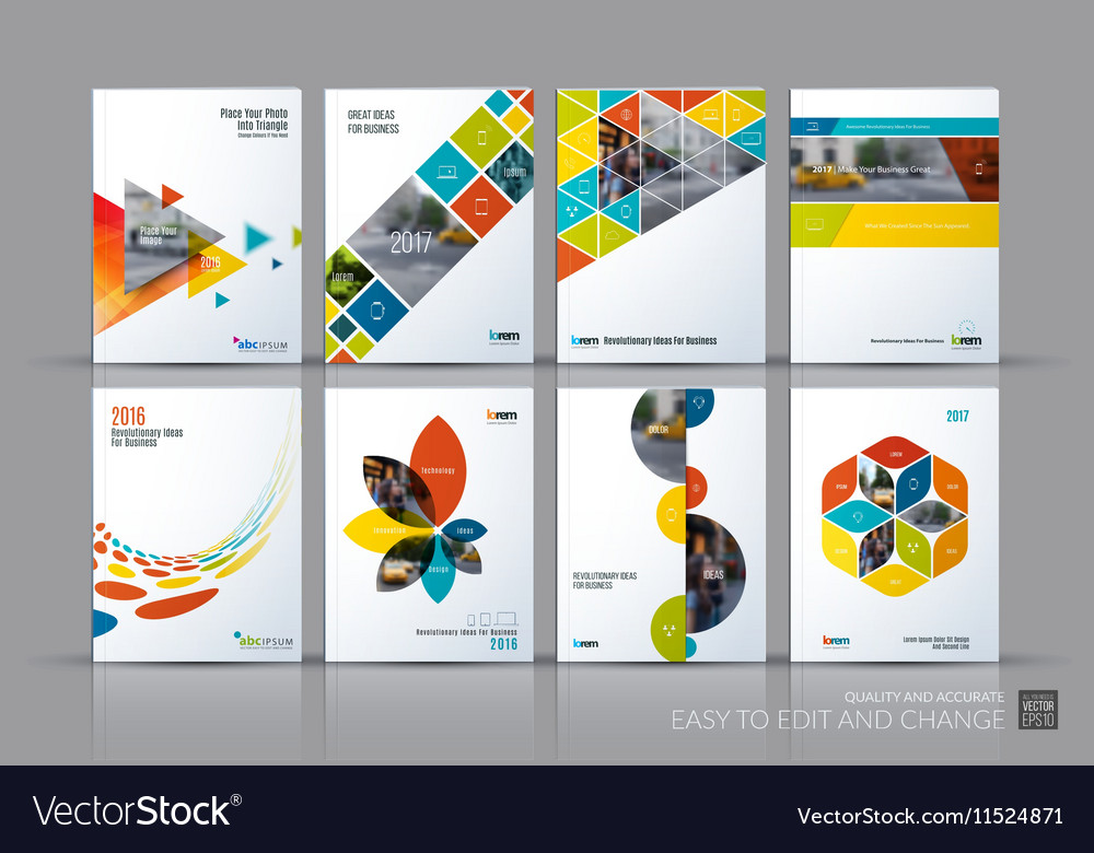 Business set Brochure template layout