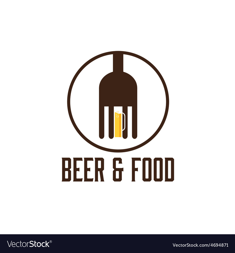 Food and beer design template