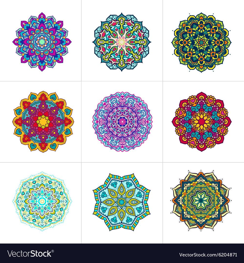 Mandala ornaments set