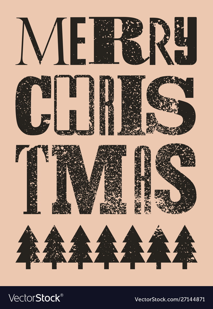 Typographic grunge christmas card or poster