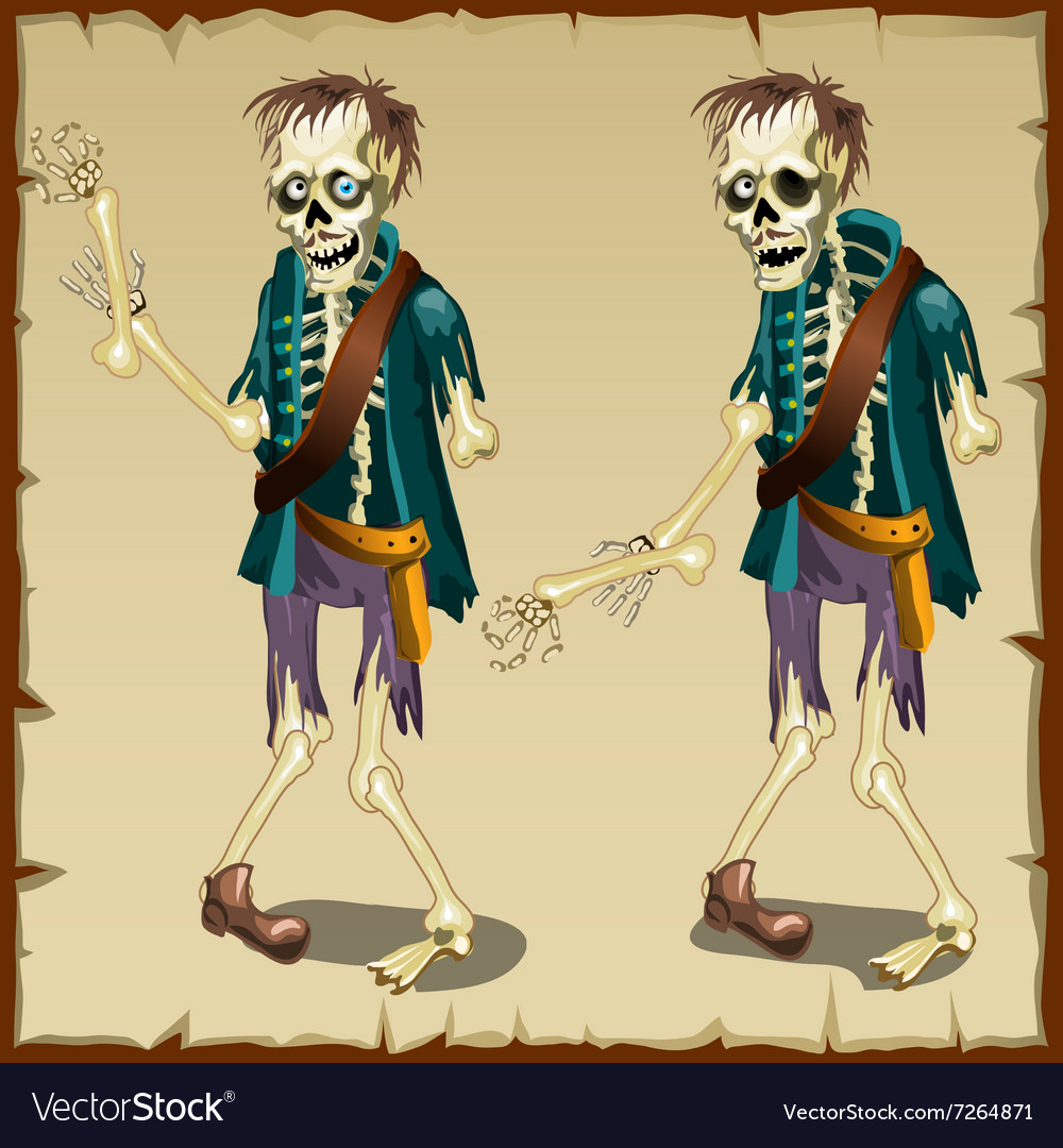 Zombie cartoon character for animation