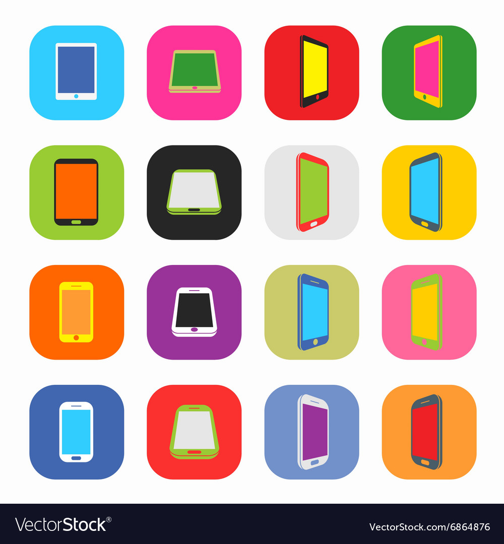 Abstract Colorful Minimal Style Modern Mobile