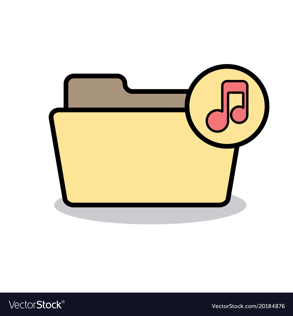 Audio folder media music note player sound icon