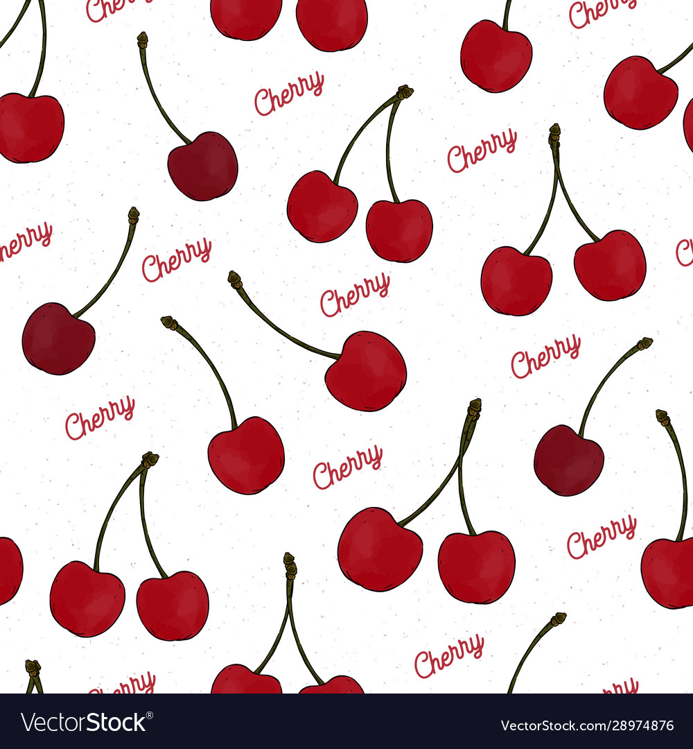 Cute cherry seamless pattern good for textile