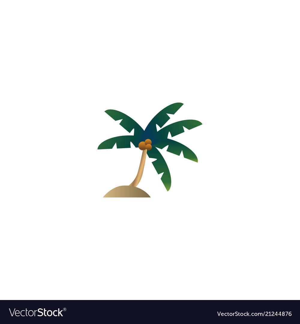 Palm tree logo design concept