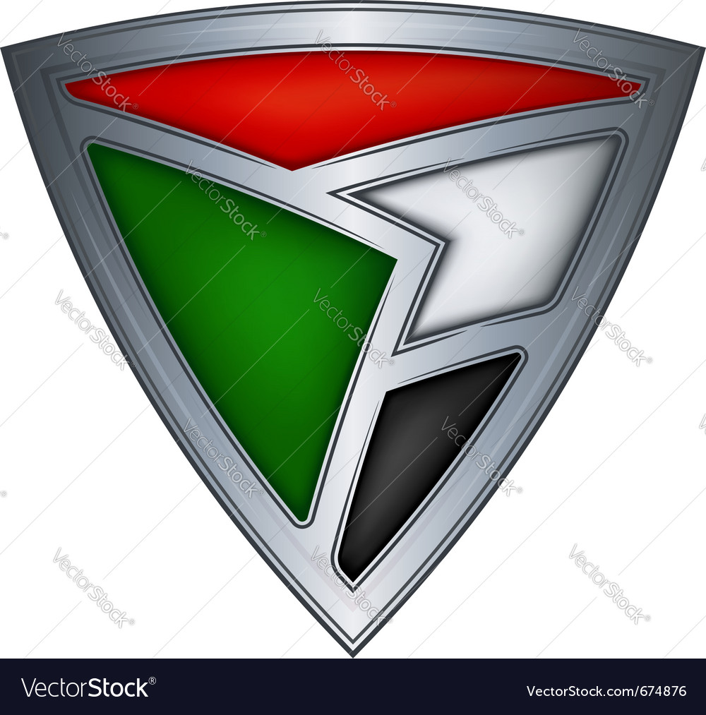 Steel shield with flag sudan