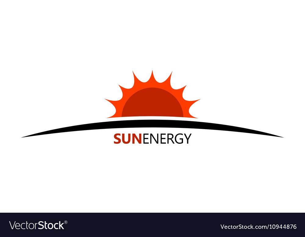 Sun energy logo Ceology energe design Sun logo vector image