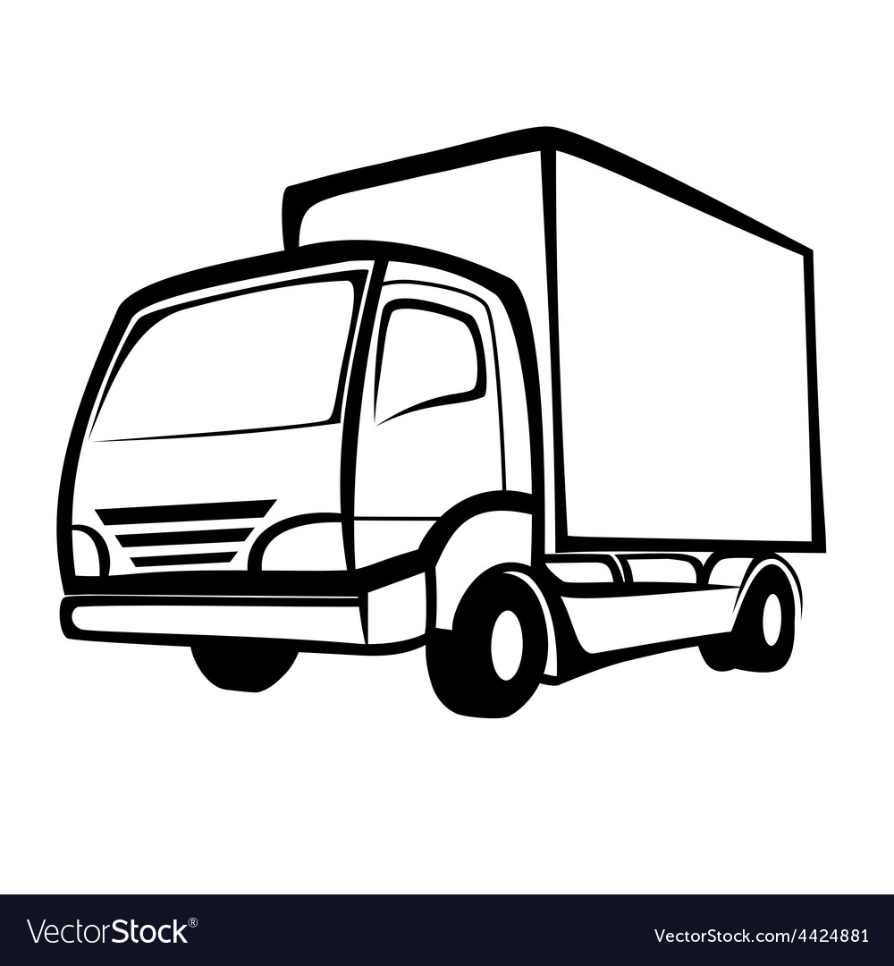 delivery truck symbol royalty free vector image