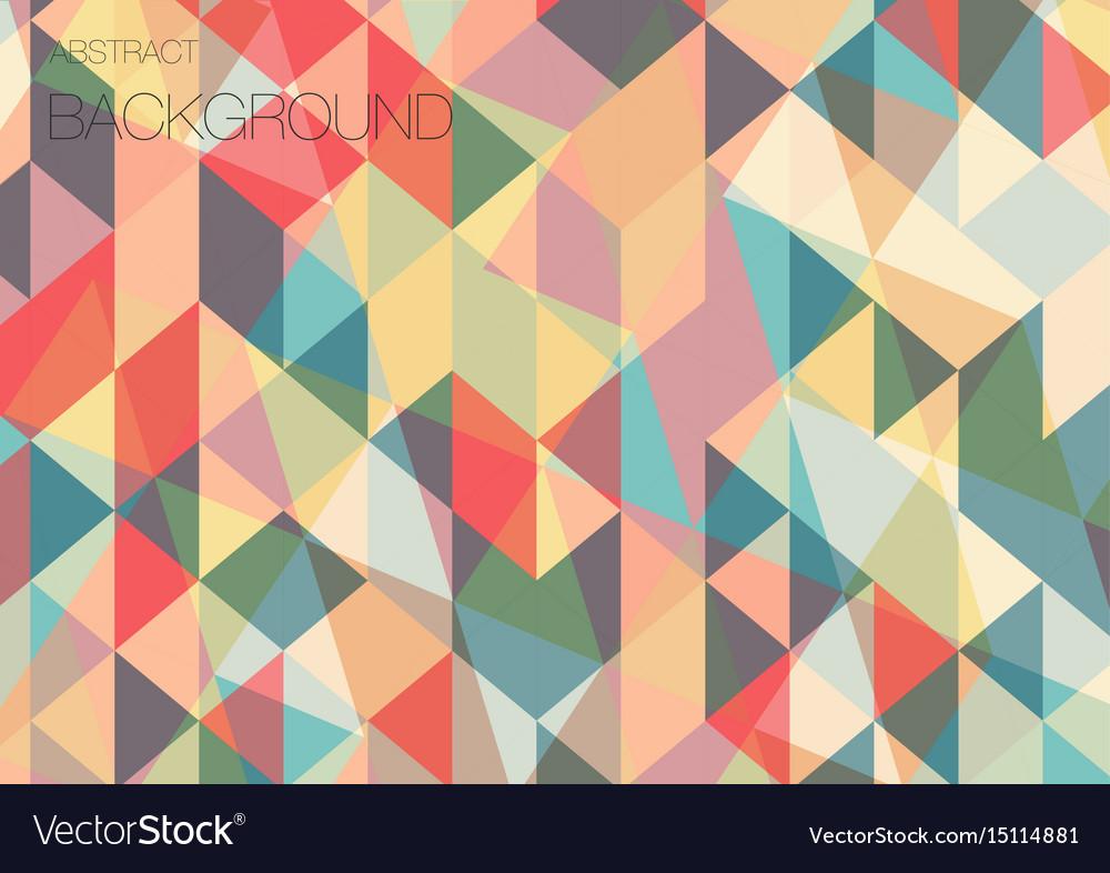 Flat Triangle Geometric Wallpaper Vector Image