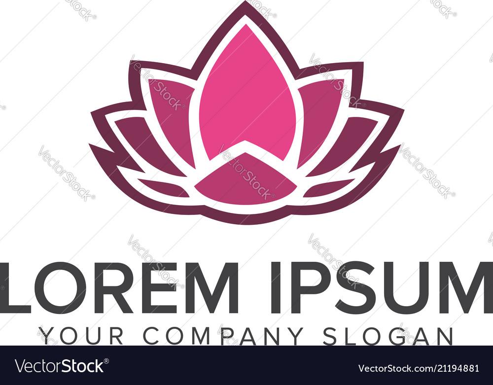 Lotus flower logobeauty fashion logo template