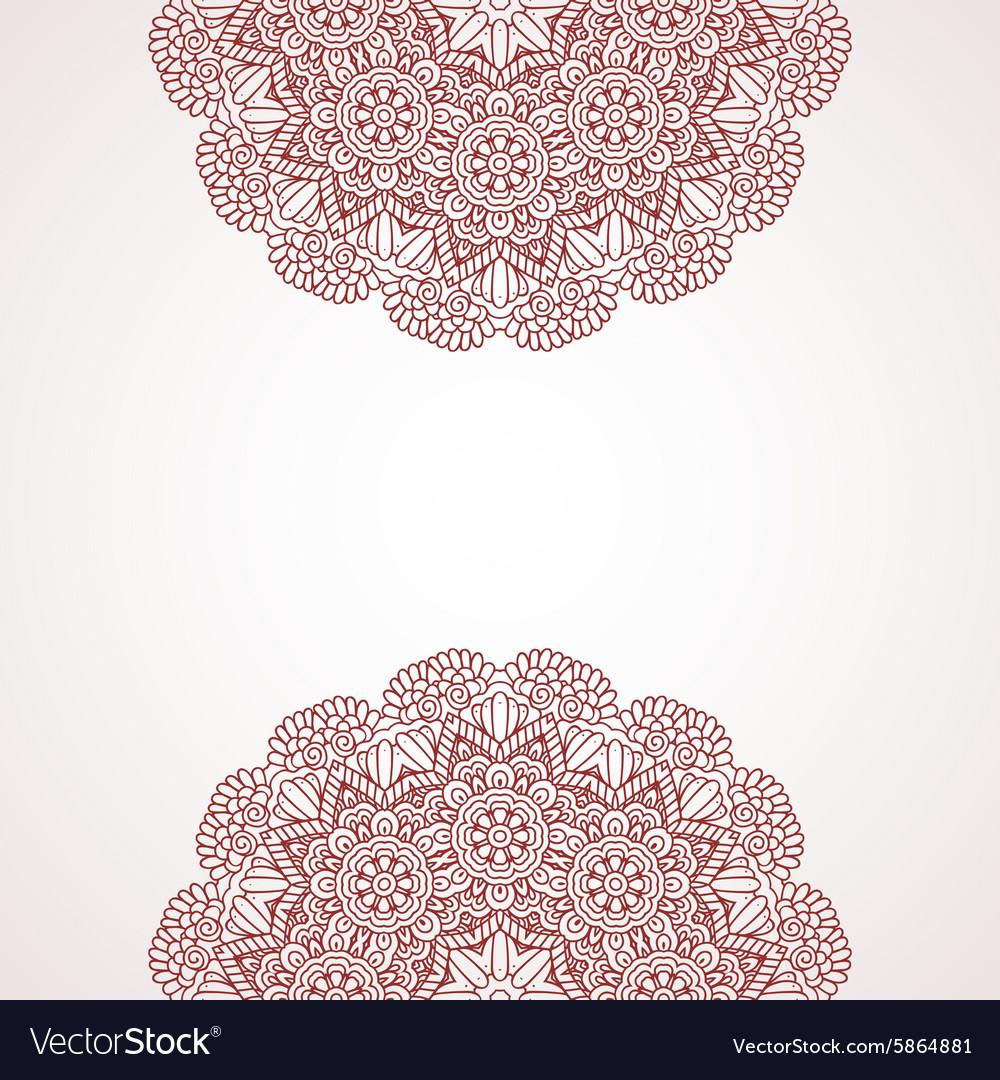 Mehndi Henna Design Background Royalty Free Vector Image