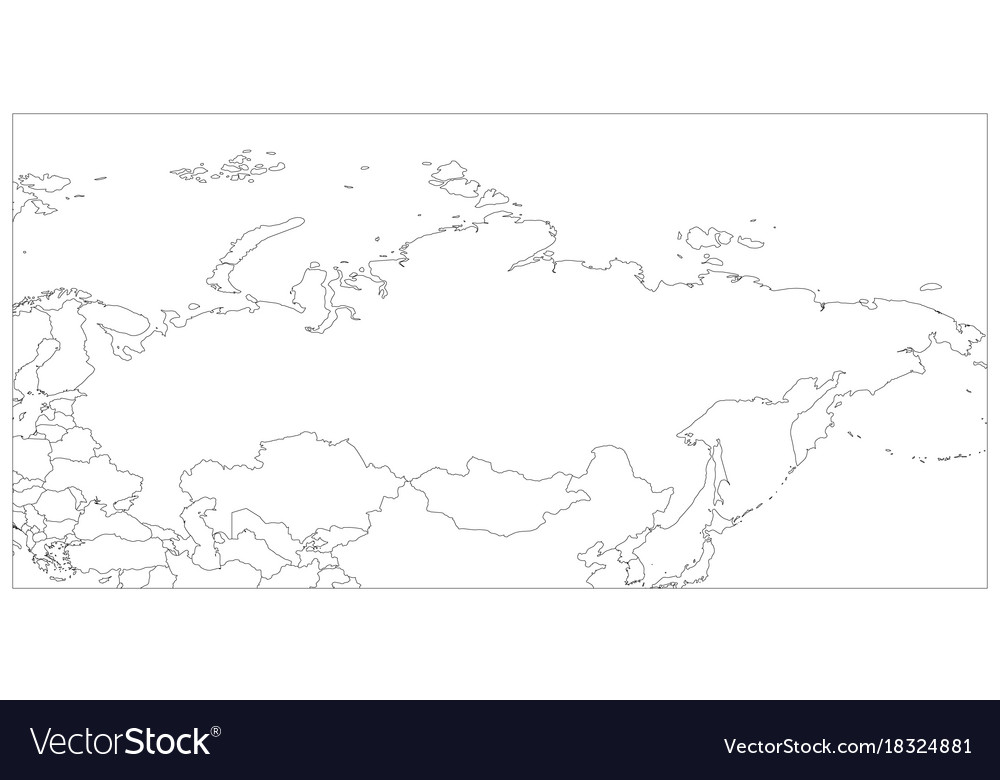 Political map of russia and surrounding countries