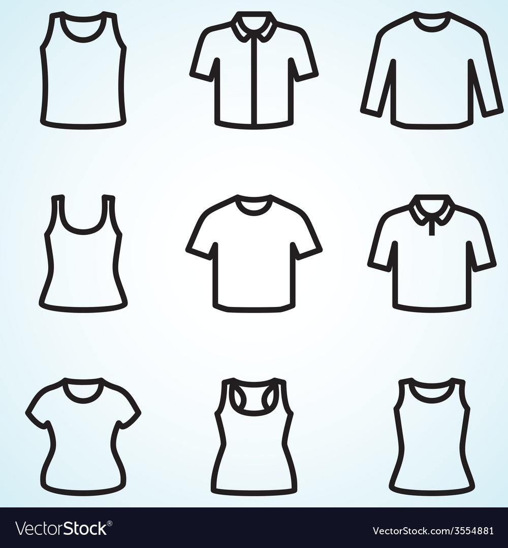 Set of t-shirts icon