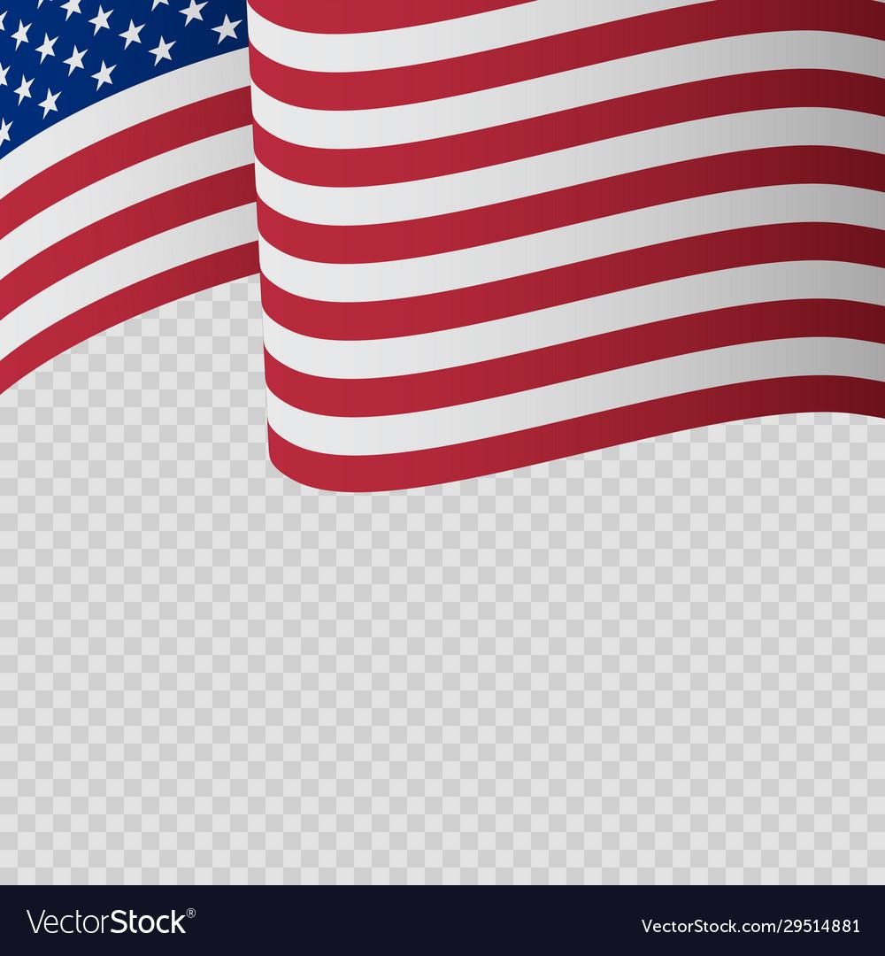Waving flag united states america wavy