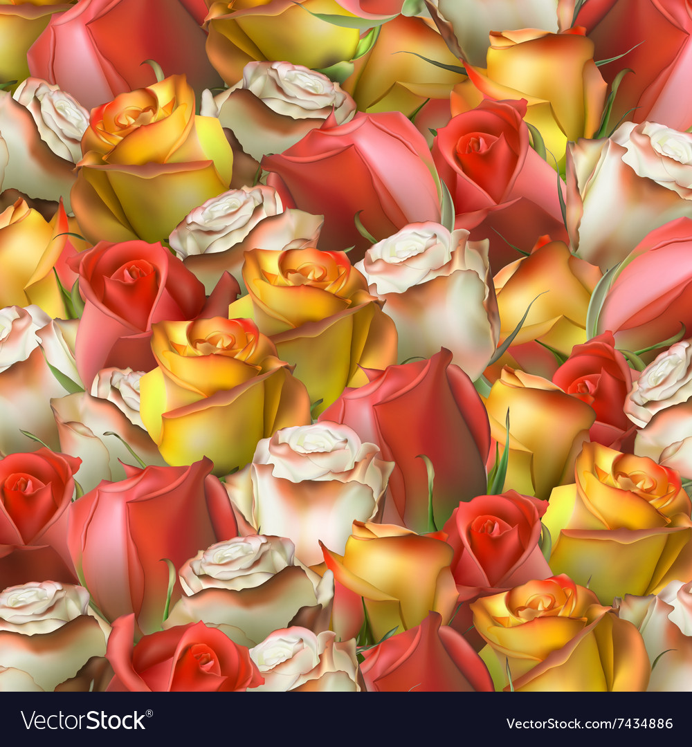 Abstract background of flowers EPS 10