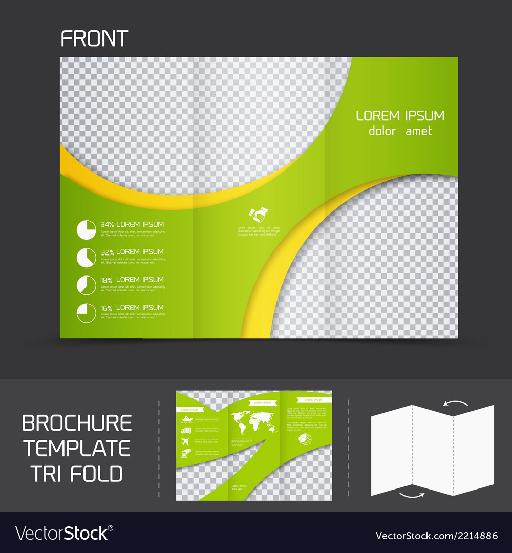 Brochure Template Tri Fold Royalty Free Vector Image