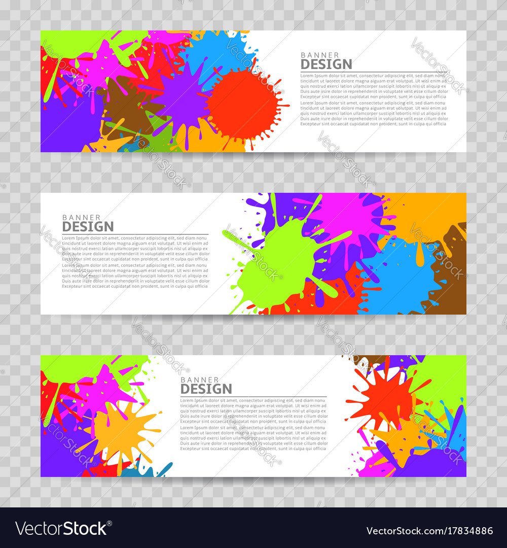colorful banner design royalty free vector image