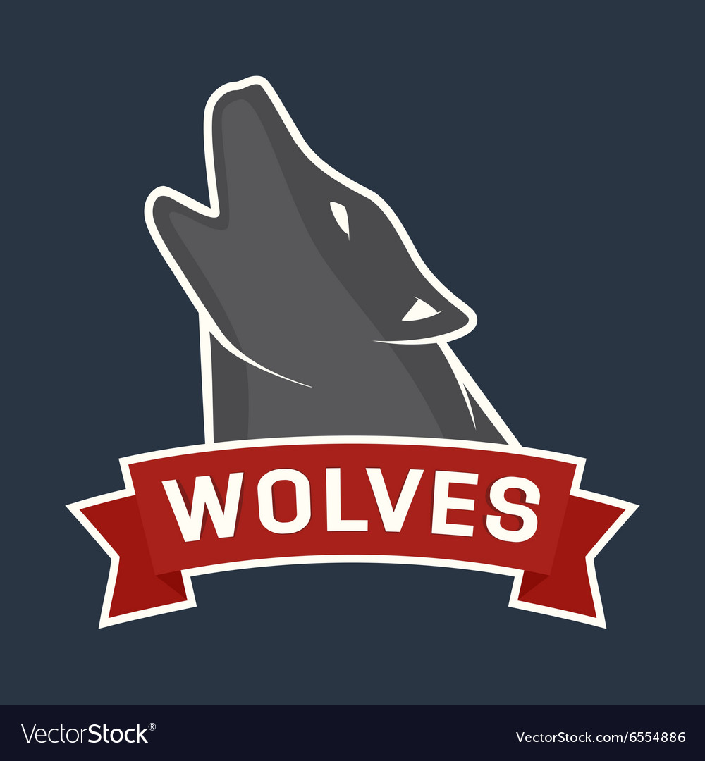 Howling wolf mascot vector image