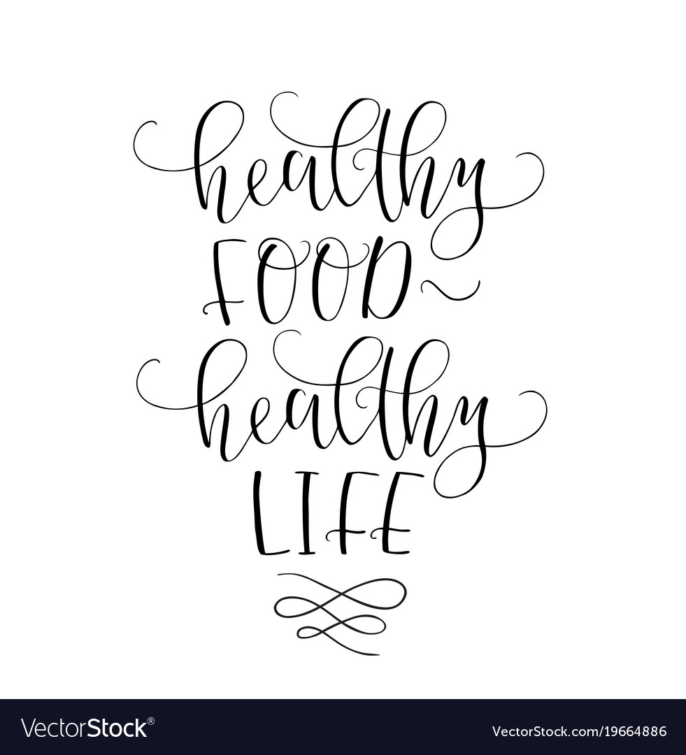 Motivational Quotes Healthy Eating: Motivational Quote Healthy Eating Healthy Life Vector Image