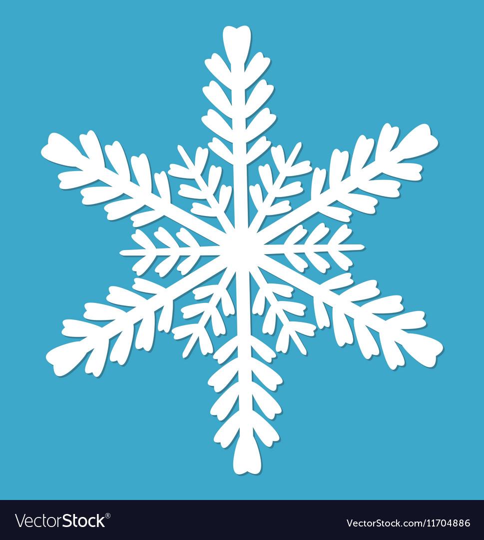 Snowflake icon flat style design elements