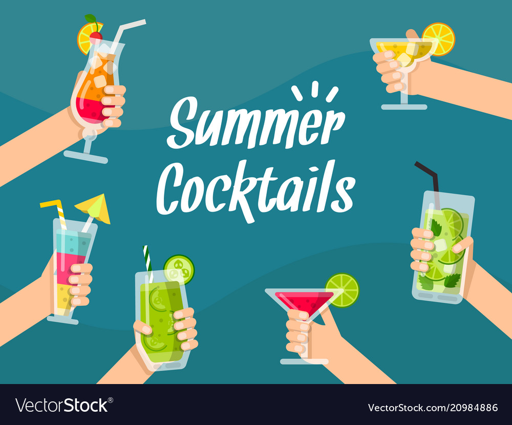 Summer background with various