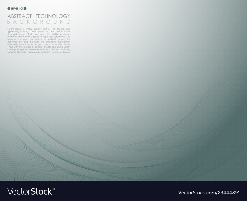 Abstract background of gradient blue free lines