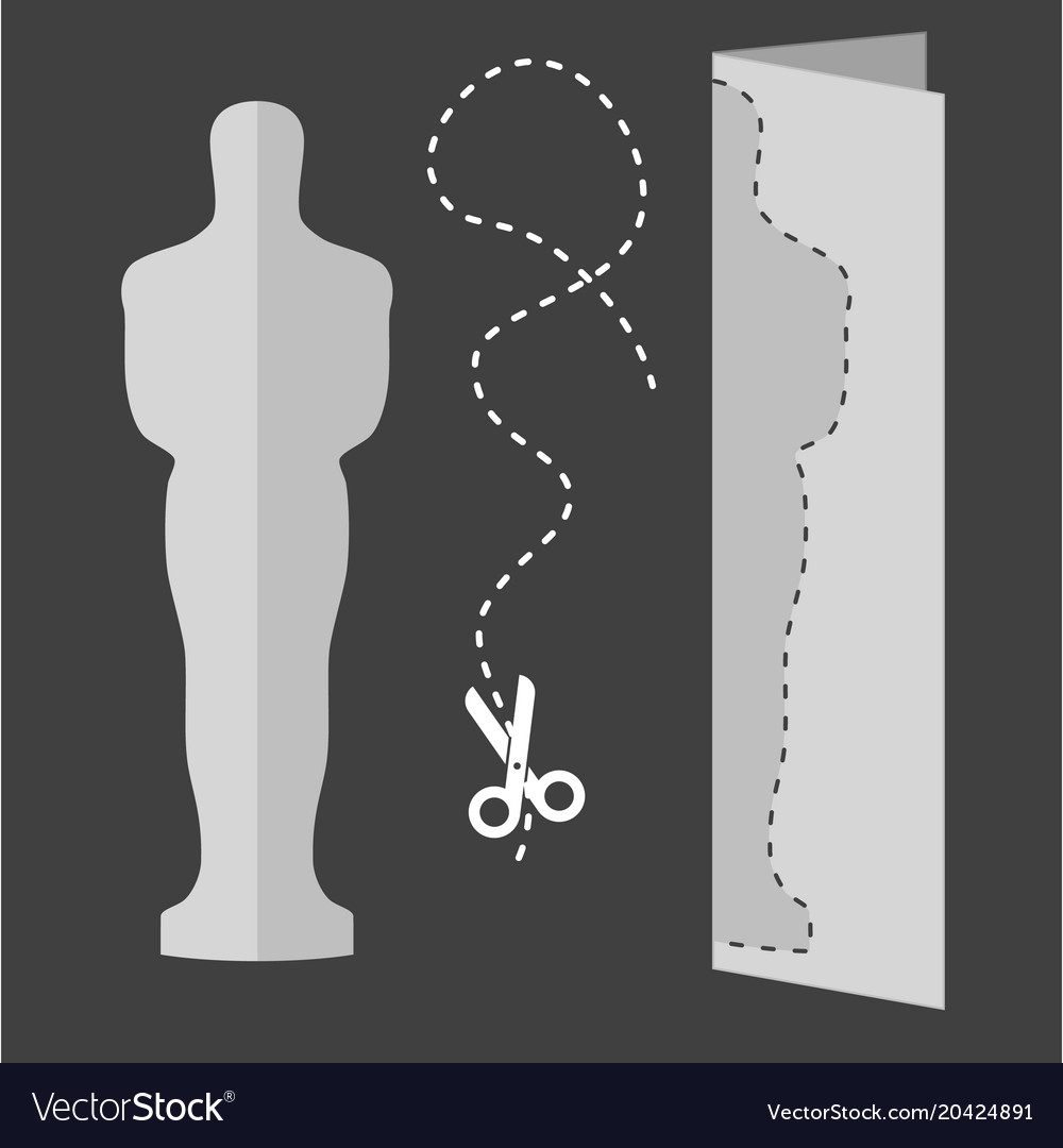 Academy award icon in flat style isolated on white