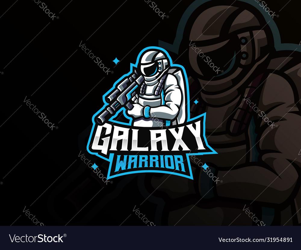 Astronaut mascot sport logo design