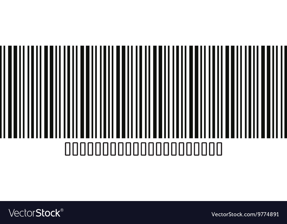 Bar code with serial number icon