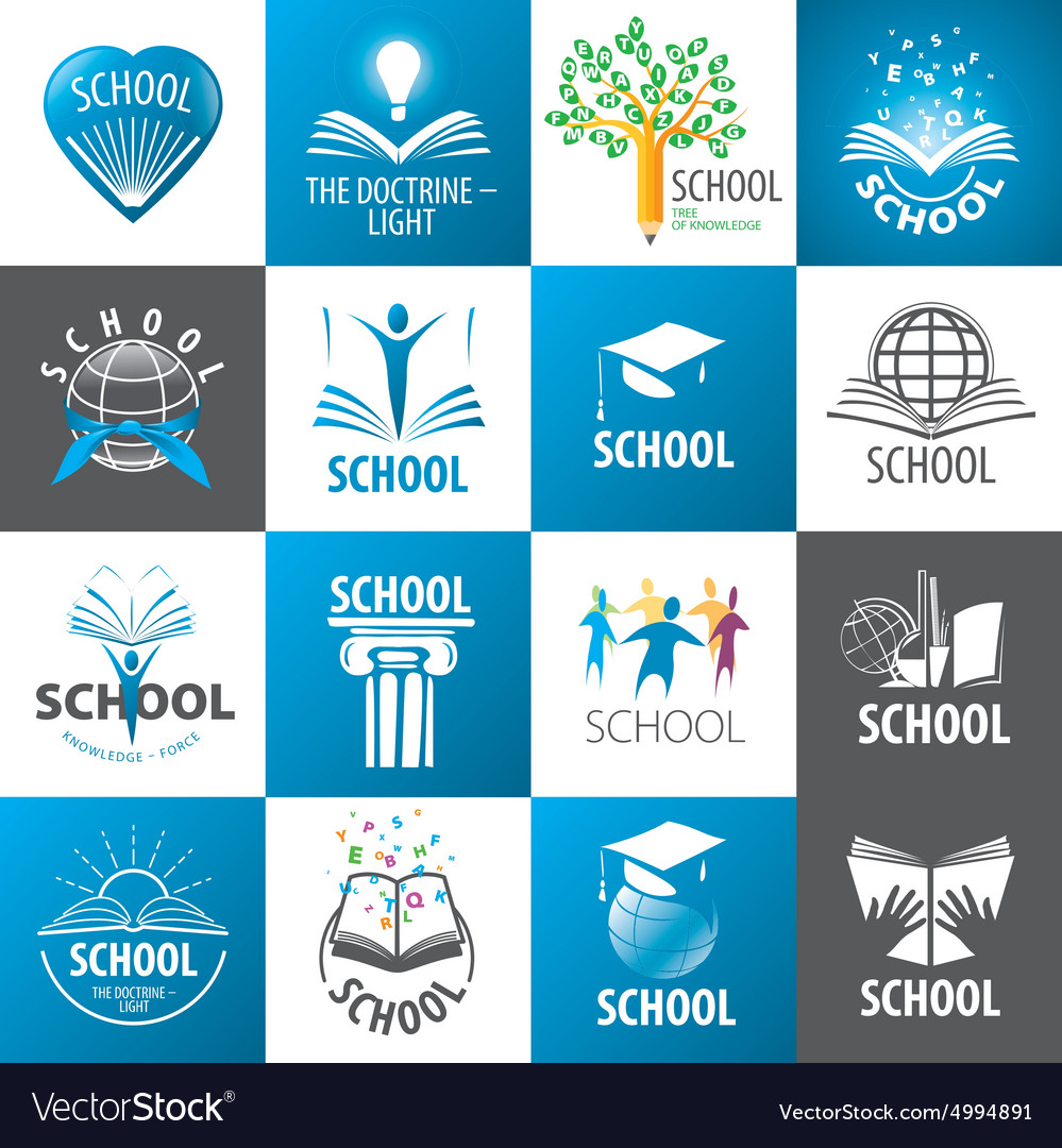 Large collection of logos School