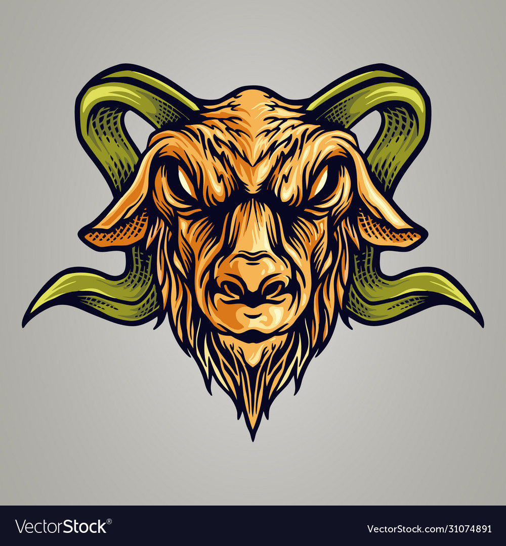 Vintage goat esport logo mascot