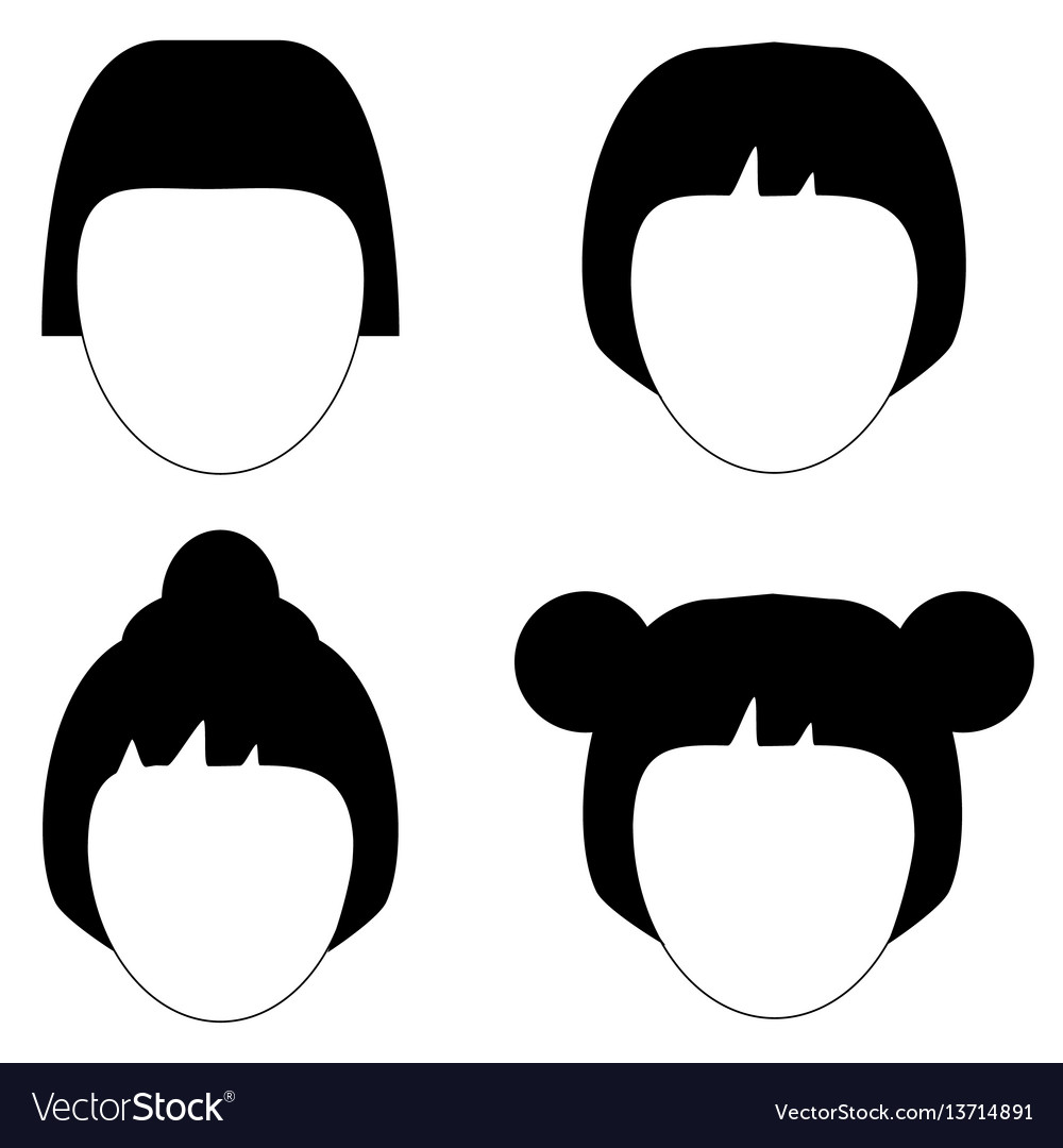 Woman hair hairstyle silhouette