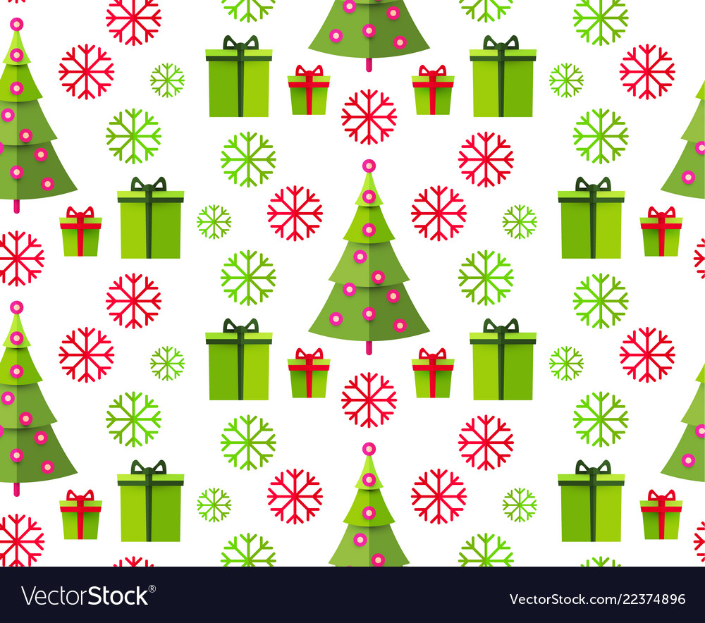 Christmas seamless pattern happy holiday