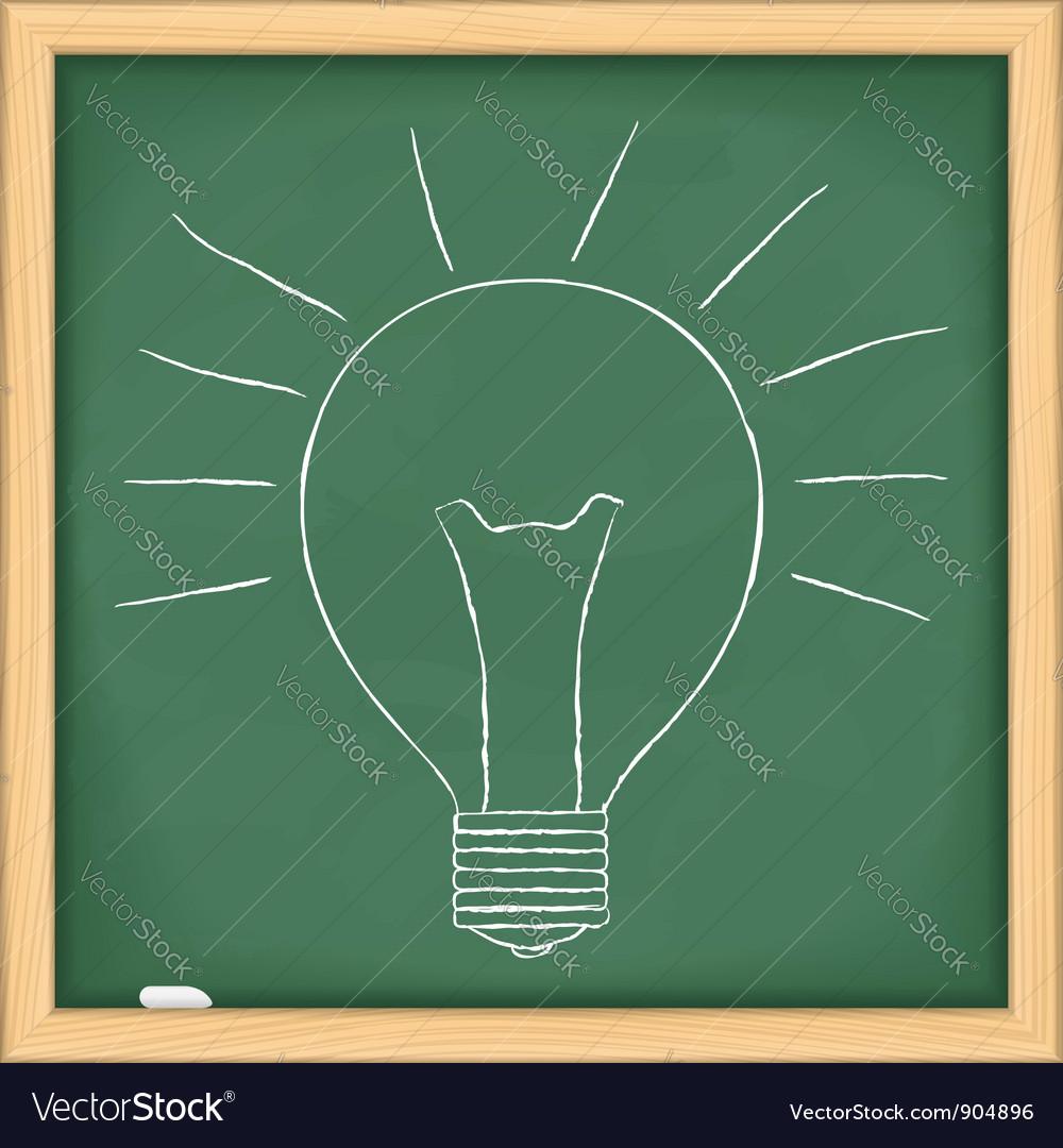 Hand drawn bulb