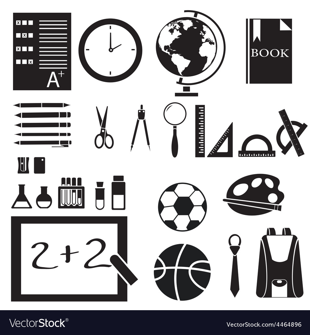 Icons set of back to school concept pictogram vector image